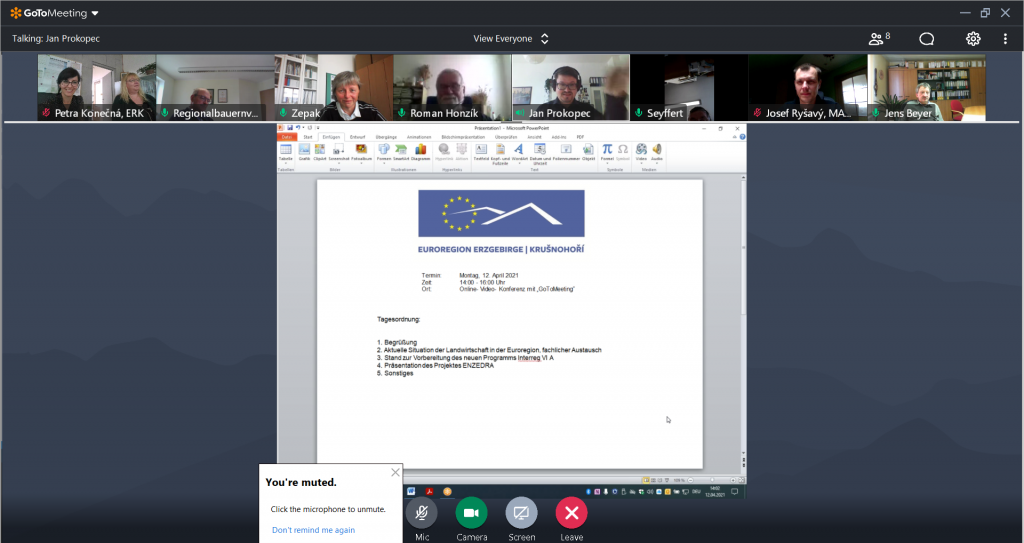 Virtuální zasedání česko-německé zemědělské komise